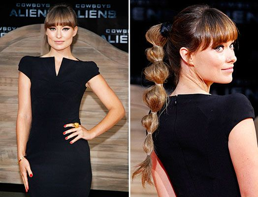 But only if you have the bangs! The Perfect Ponytail on Olivia Wilde