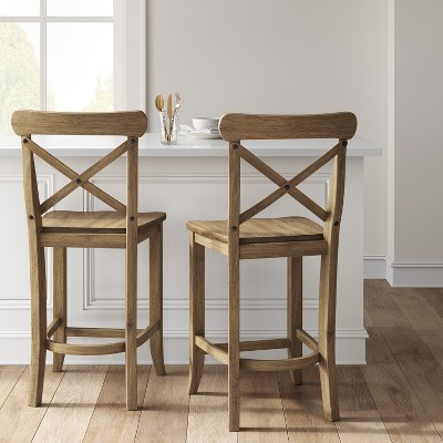 Fabulous 24 Litchfield X Back Counter Stool Beige Threshold Gmtry Best Dining Table And Chair Ideas Images Gmtryco