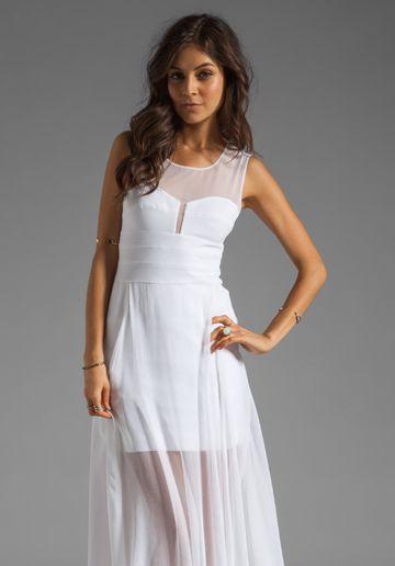 White Tank Maxi Dress BCBG