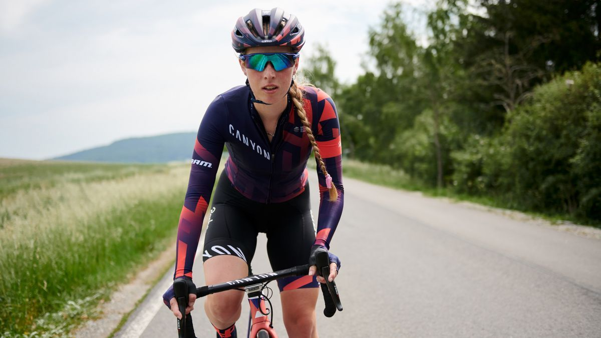 The Canyon  SRAM women s pro cycling team has revealed its new team kit and  bike livery inspired by the Rapha Women s 100 event df0900ff3