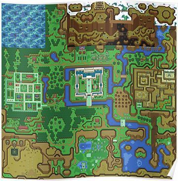 The Legend Of Zelda A Link To The Past Map Poster By
