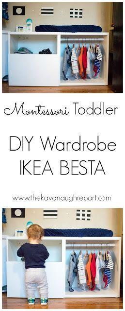 Montessori Toddler Wardrobe Ikea Besta Hack
