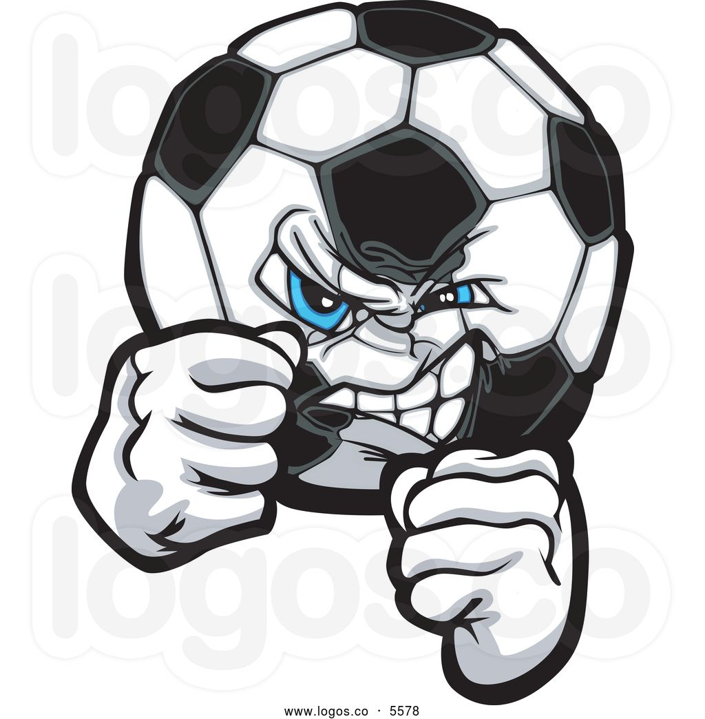 royalty-free-vector-of-a-logo-of-a-mad-blue-eyed-soccer-ball-with ...