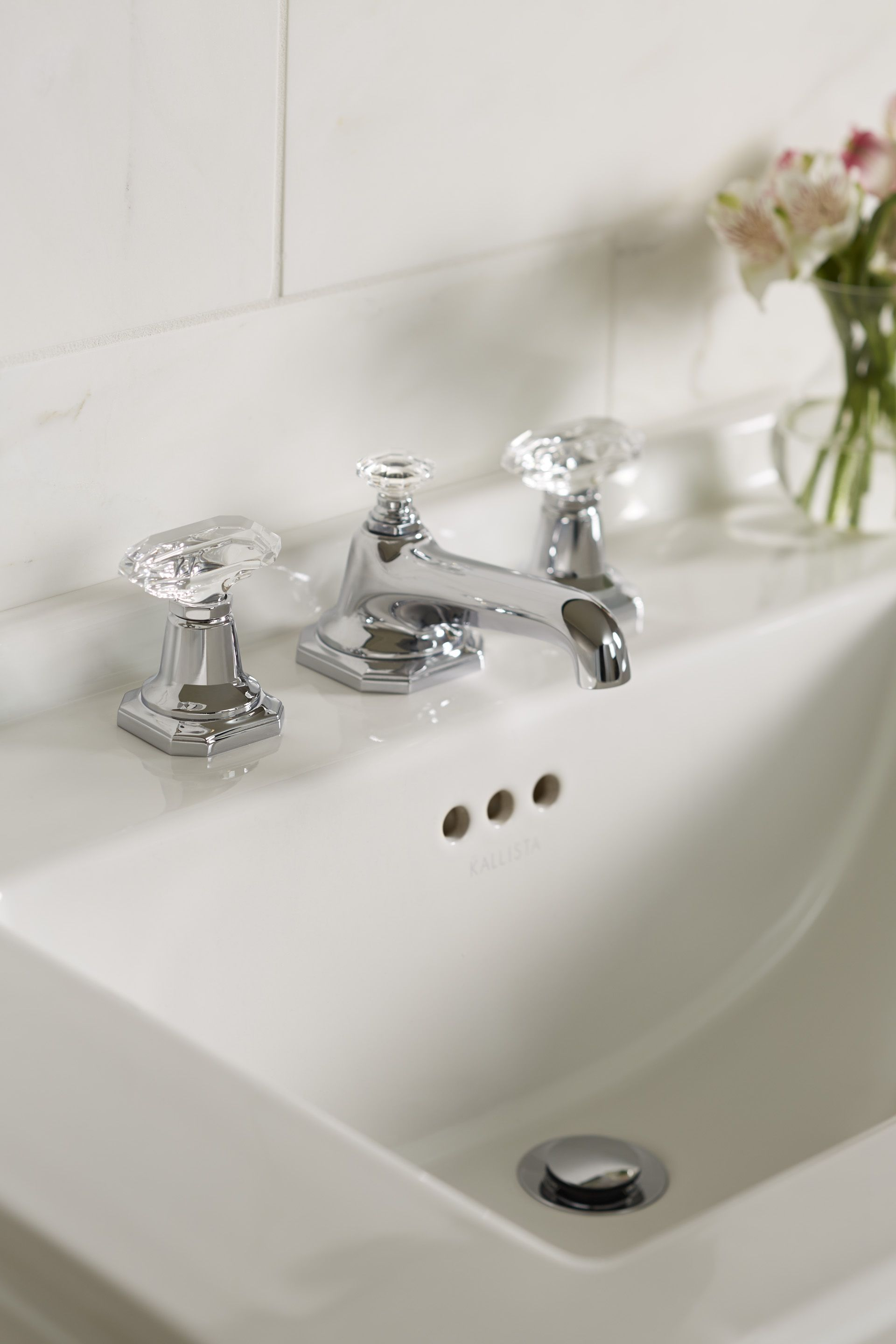 Sink Faucet, Clear Crystal Handles | FOR LOFT | BY MICHAEL S SMITH ...