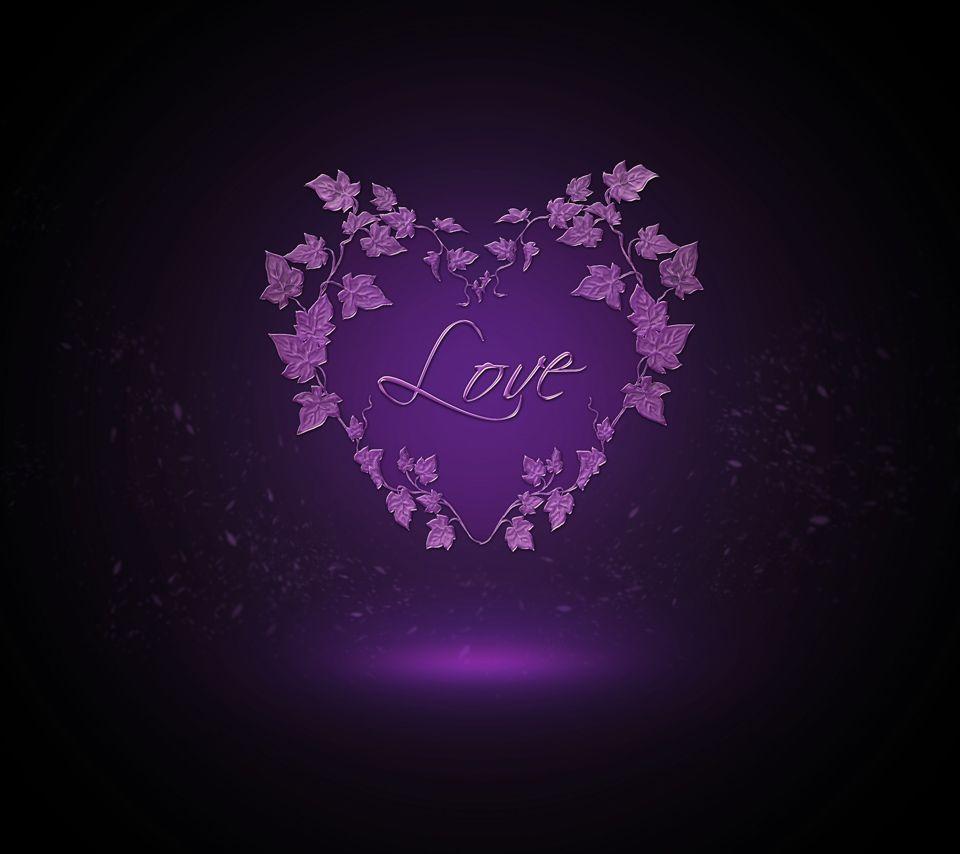 purple | love,heart,purple,romantic,wallpaper,dark,vine ...