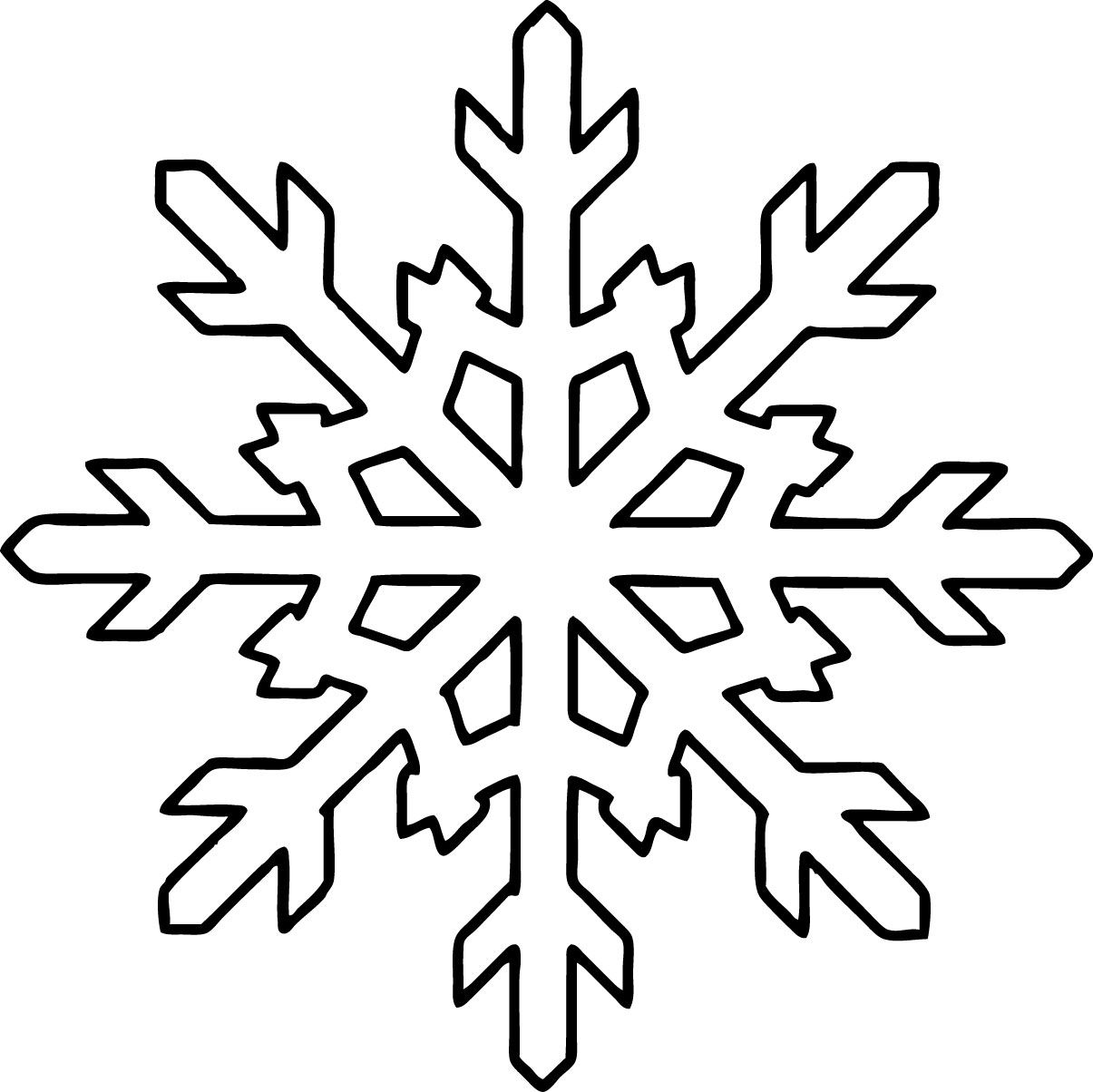 Snowflake coloring pages for kids printable | Seasonal | Pinterest