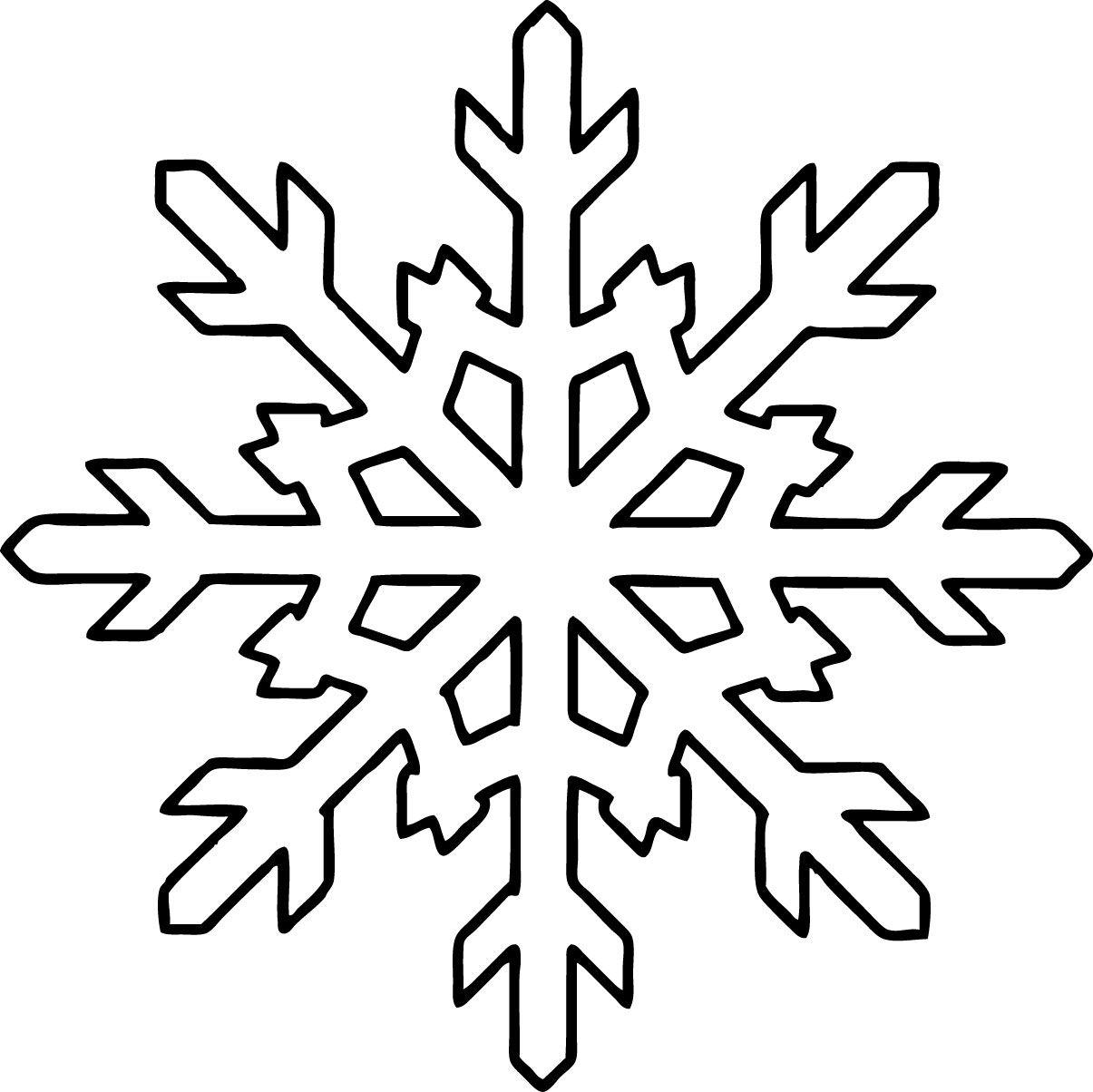 Snowflake Coloring Pages For Kids Printable Seasonal Pinterest