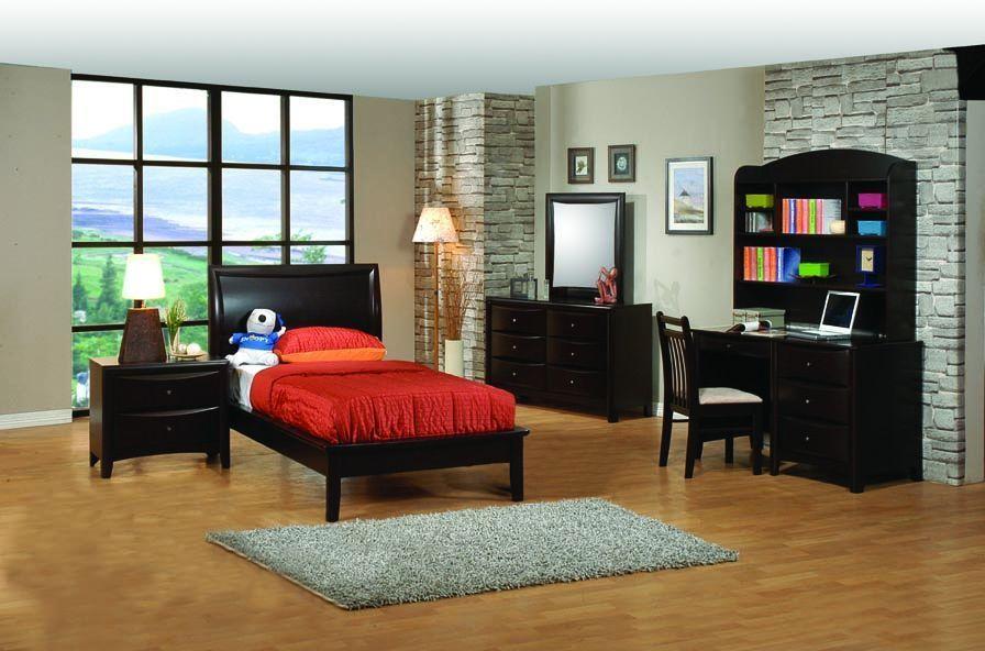 Phoenix Transitional Cappuccino Kids Bedrooms | Platform ...