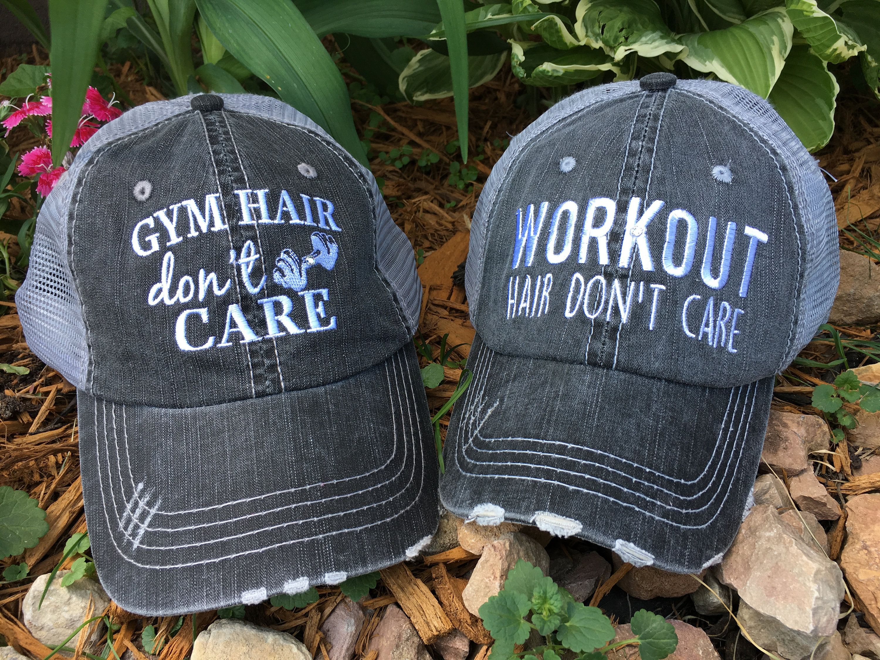 Gym Workout Yoga hats Embroidered gray distressed unisex