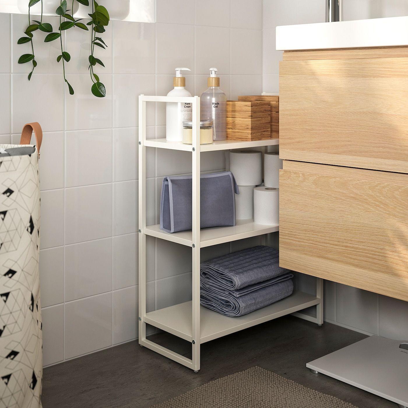 Ikea Jonaxel Regal Wei Szlig In 2020 Regal Weiss Badezimmer Regal Weiss Badezimmer Aufbewahrung
