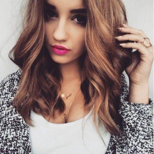 Big Curls Medium Hair Curled Hairstyles For Medium Hair