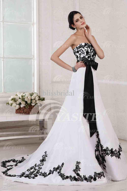vestidos de novia blanco con negro - Buscar con Google | Bodas ...