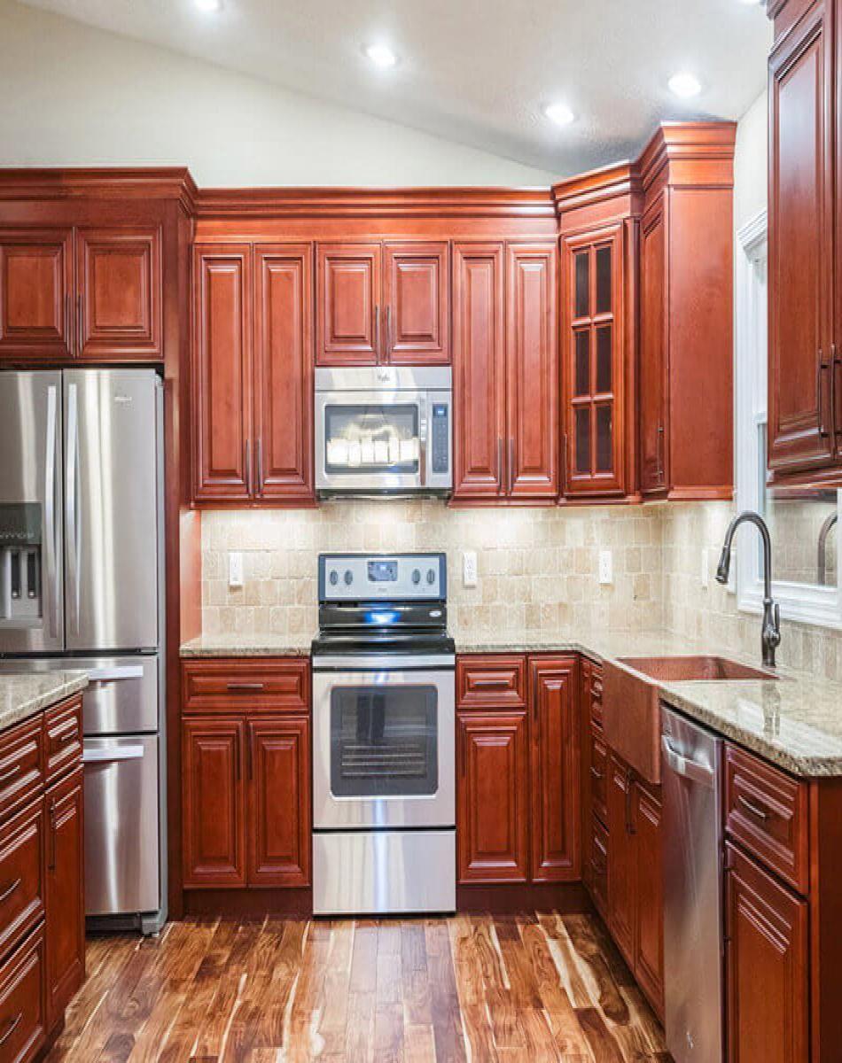 Charleston Cherry | Cherry cabinets kitchen, Kitchen ...