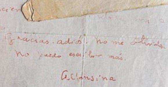 Carta de Alfonsina Storni a Manuel Galvez