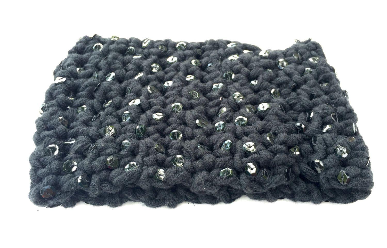 Black Crochet Ear Warmer by JennyBeansCraftique on Etsy | CROCHET ...