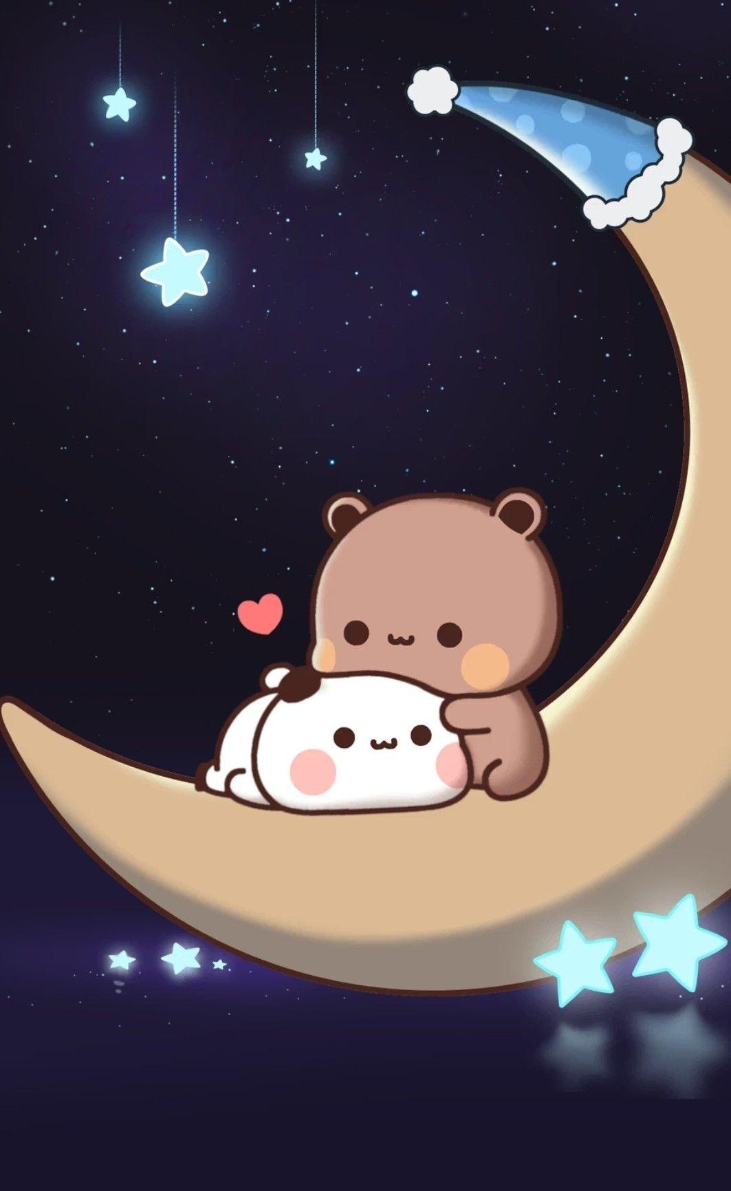 Pin By Karla Briones On Michi Et Boo Cute Panda Wallpaper Cute Wallpapers Cute Bear Drawings