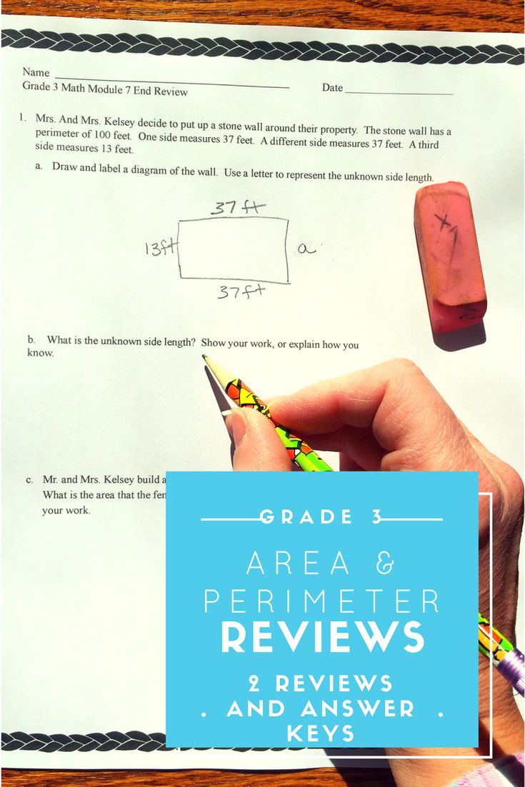 Area and Perimeter Grade 3 End Mod 7 Reviews & Answer Keys | AWESOME ...