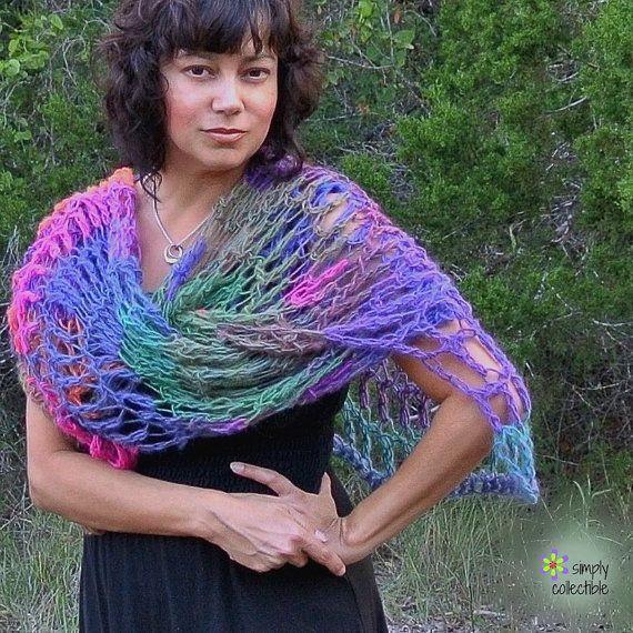 Crochet Shawl Pattern - Penelope\'s Lacy Wrap - Written Pattern PDF ...