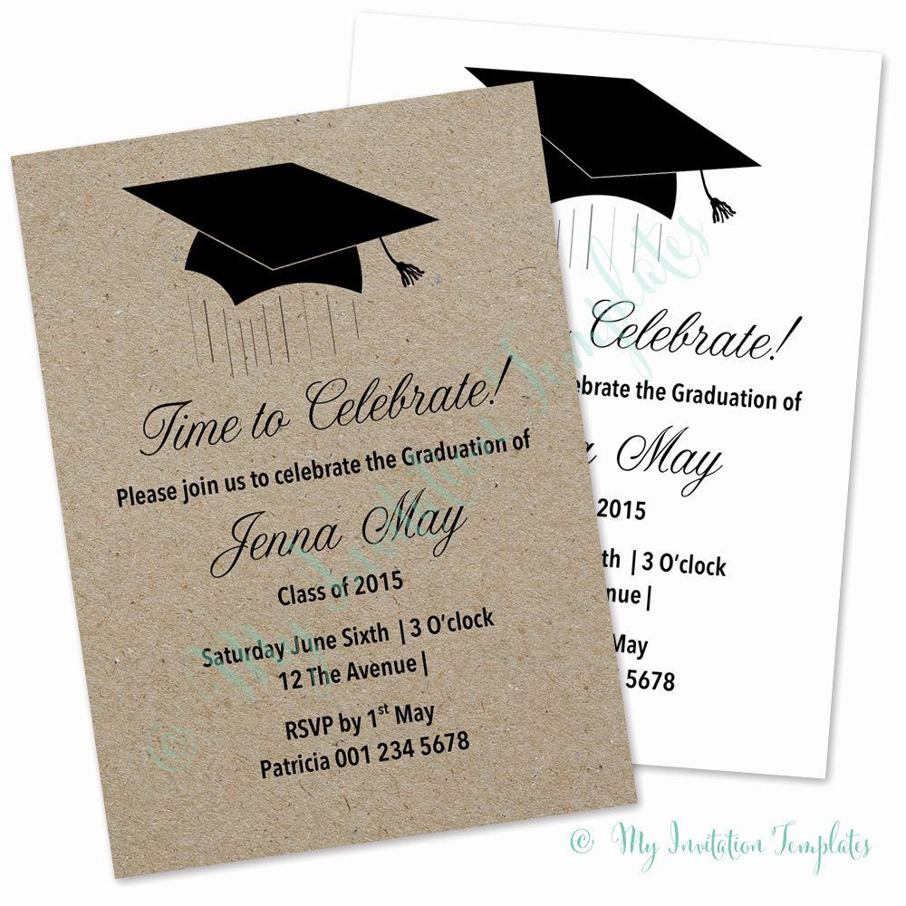 Graduation Invitation Card Template Lovely Graduation Ceremony Inv Graduation Invitations Template Graduation Announcement Template Graduation Invitation Cards