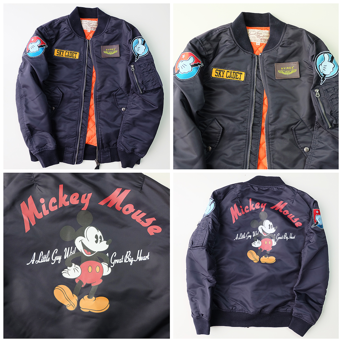 Vintage Japanese DISNEY AVIREX Sky Cadet Mickey Mouse Bomber ...