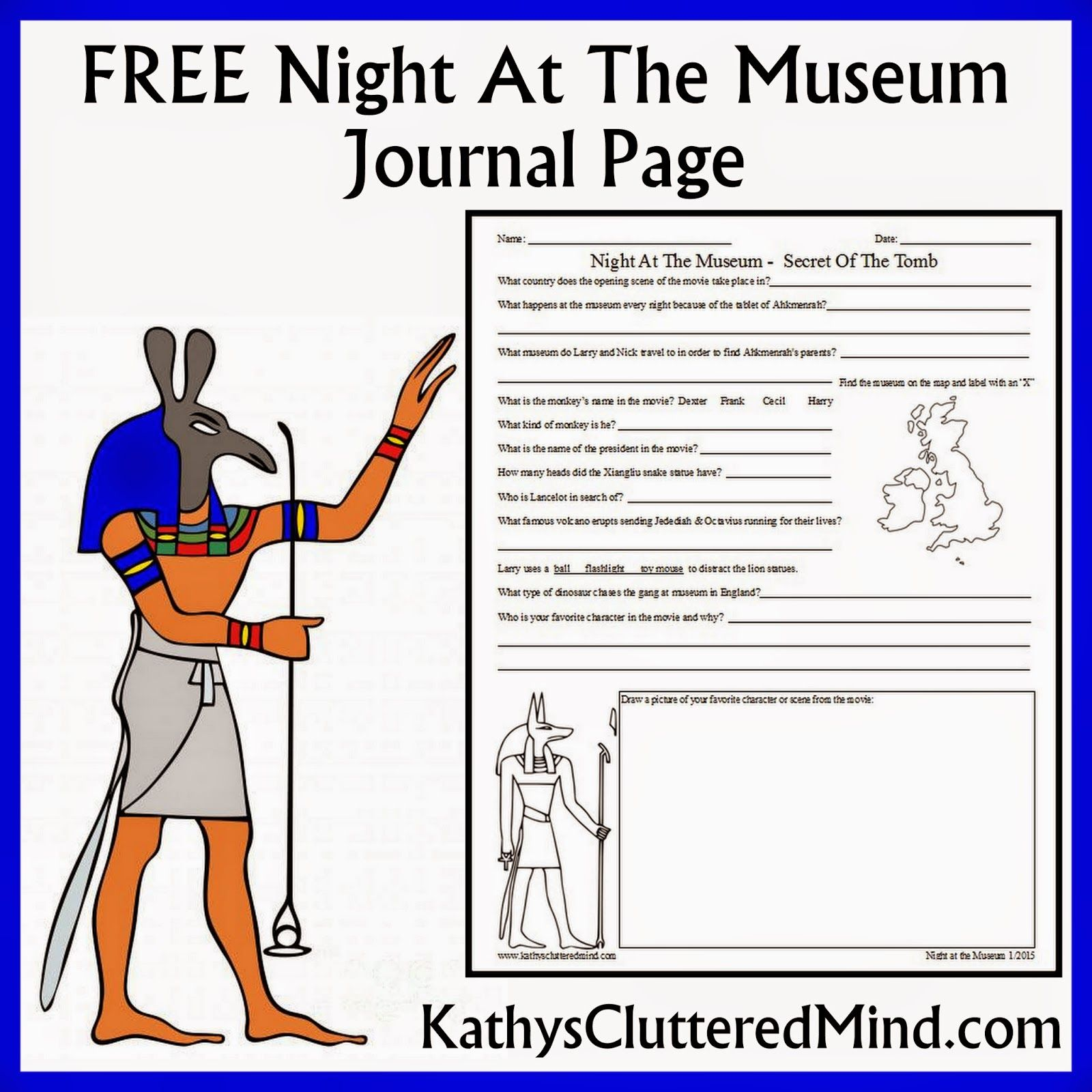 worksheet Night At The Museum Worksheets kathys cluttered mind night at the museum secret of tomb explore journal pages and more