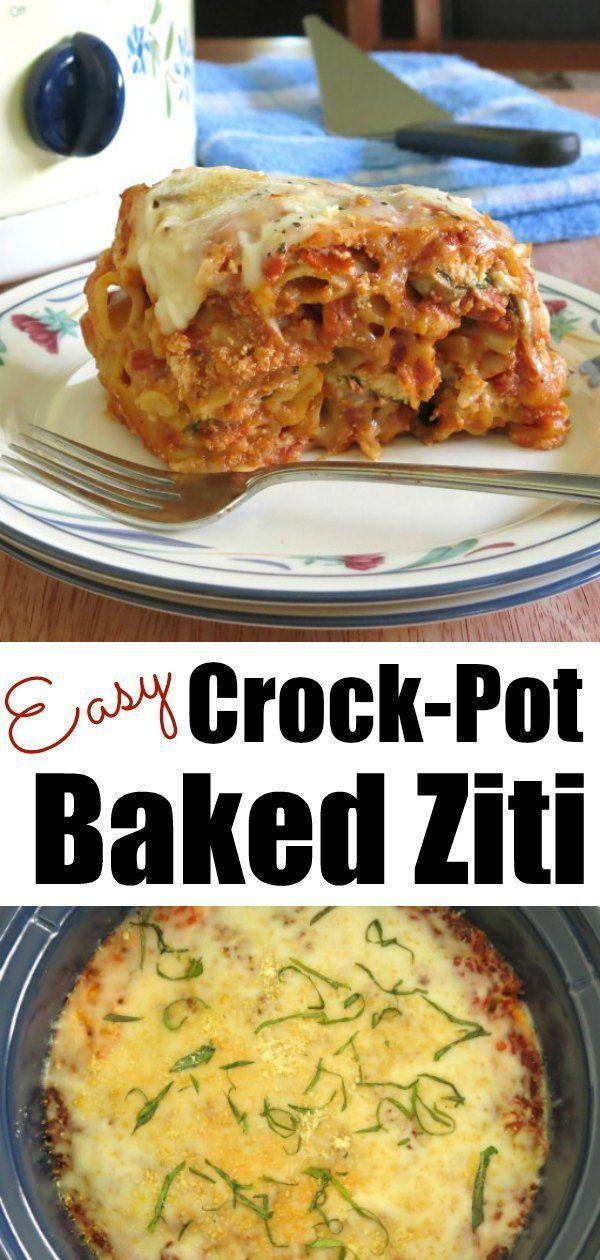 Crock Pot Baked Ziti images