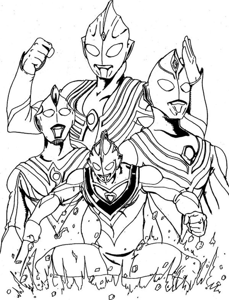 Ultraman Ginga Colouring Pages For Those Of You Who Are Movie Lovers Who Have A Super Hero Genre From Japan You Must Have Heard The Ultraman Film Ultraman U [ 1045 x 800 Pixel ]