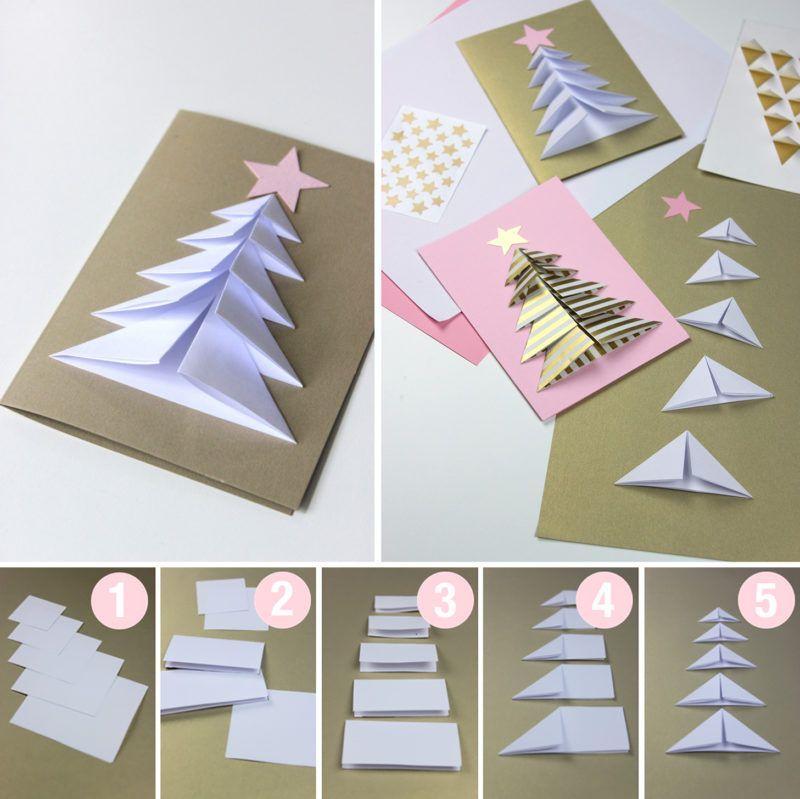 Поделки своими руками новогодняя открытка