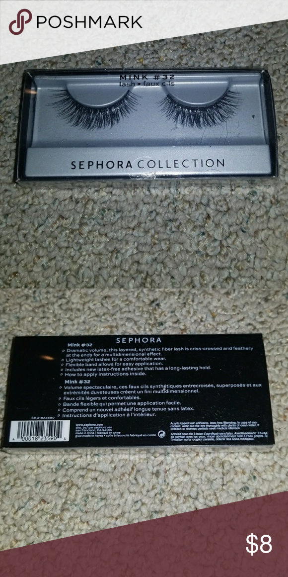 76f04e08d7a Sephora Mink #32 lashes Brand new Sephora Mink #32 lashes Sephora Makeup  False Eyelashes