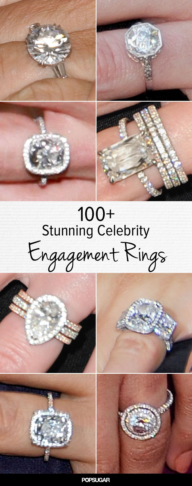 12 Non-Traditional Celebrity Engagement Rings | InStyle.com