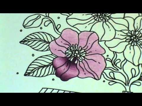 Coloriage Adulte Tuto.Tuto Coloriage Fleur Aux Crayons De Couleurs Youtube Fleures En