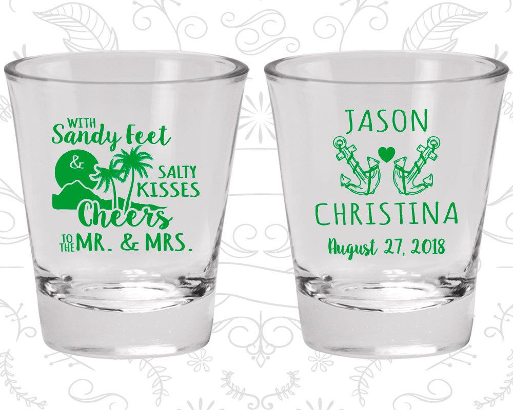 Wedding vase decorations november 2018 With Sandy Feet and Salty Kisses Cheers to Mr and Mrs Cheap Glass