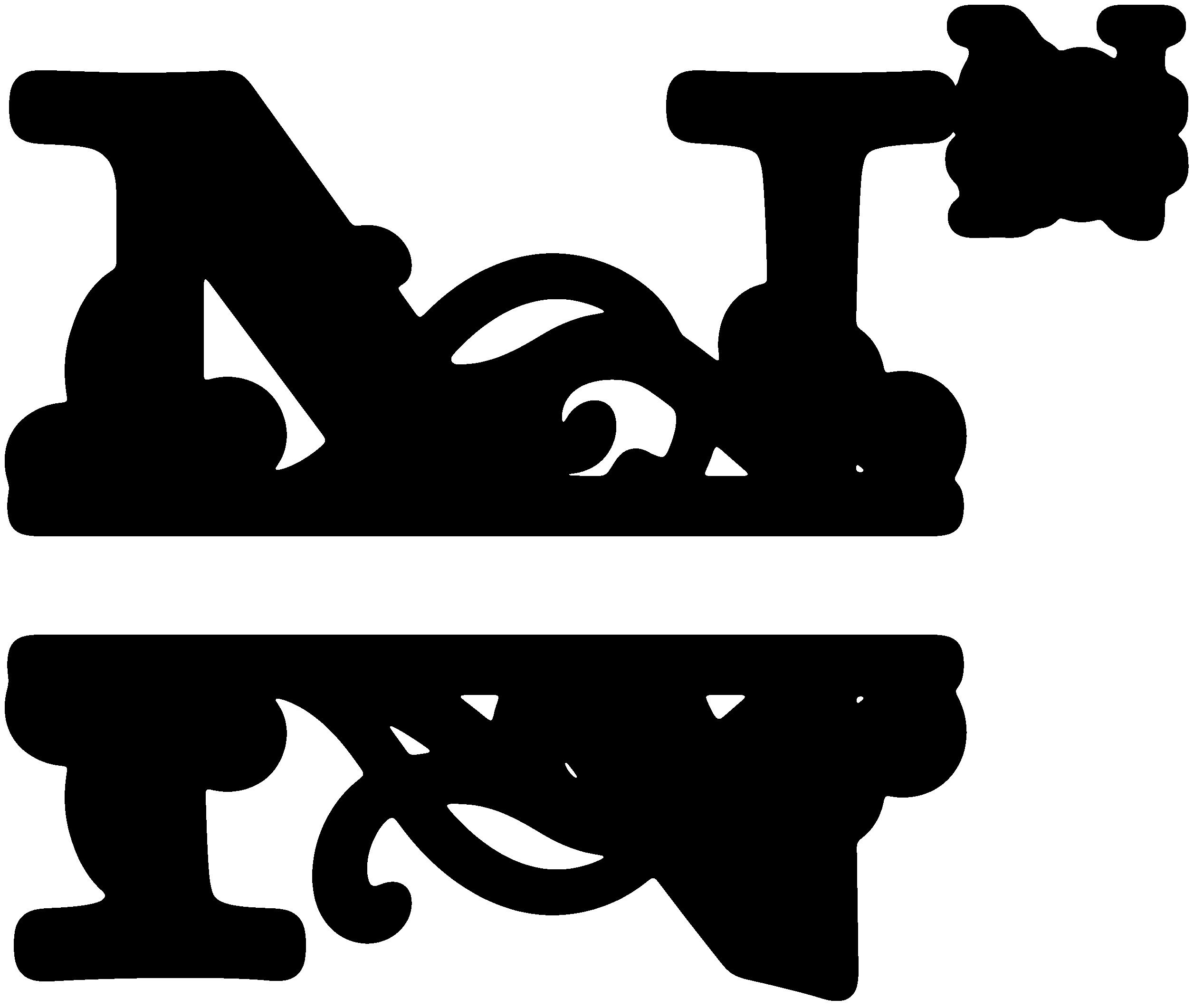 """""""N"""" Split Monogram"""