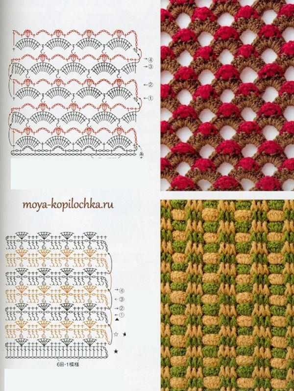 crochet Jacquard | Puntos | Pinterest | Puntadas, Puntos crochet y ...