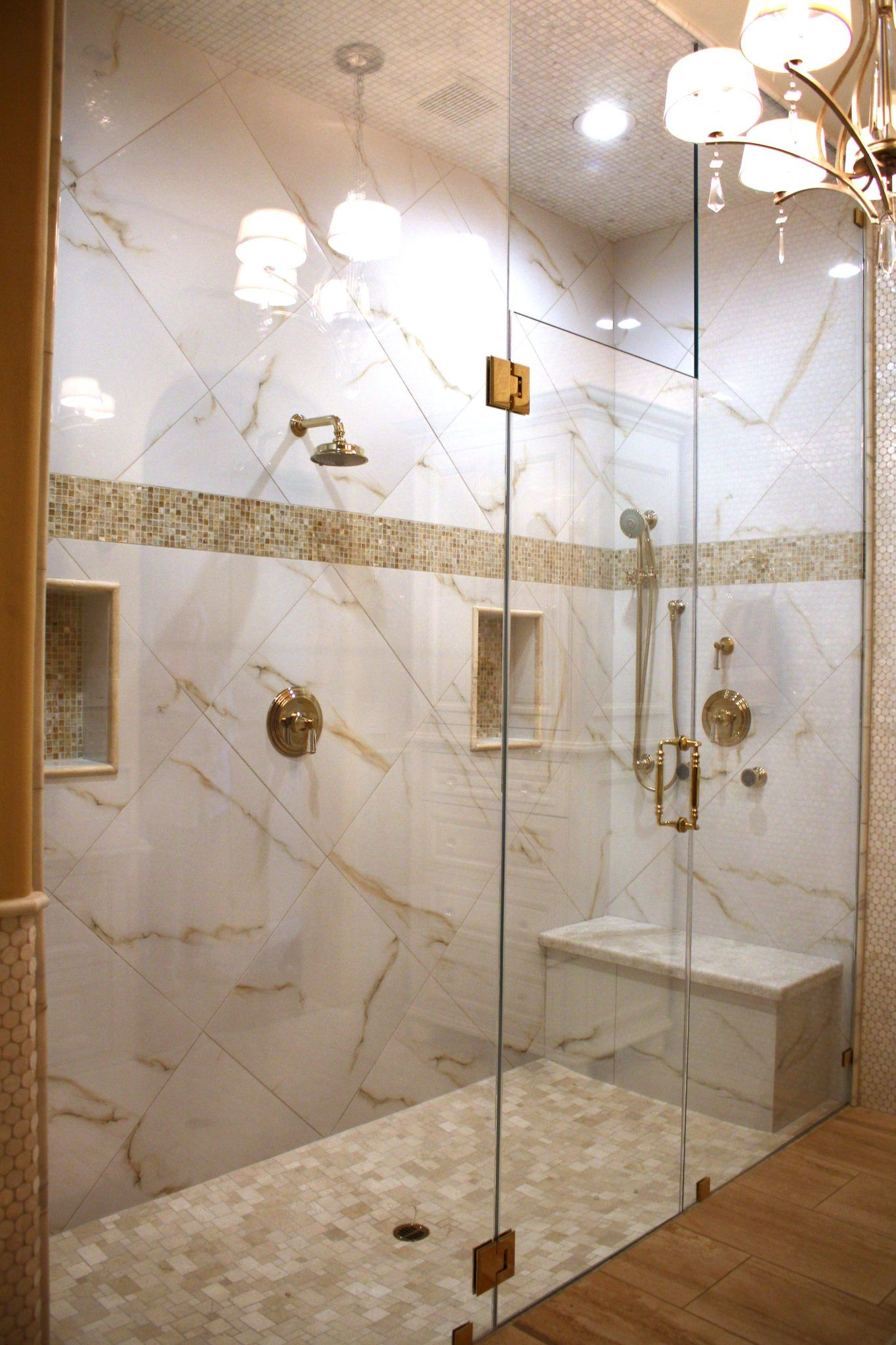 Frameless shower doors and enclosures with your choice of glass and ...