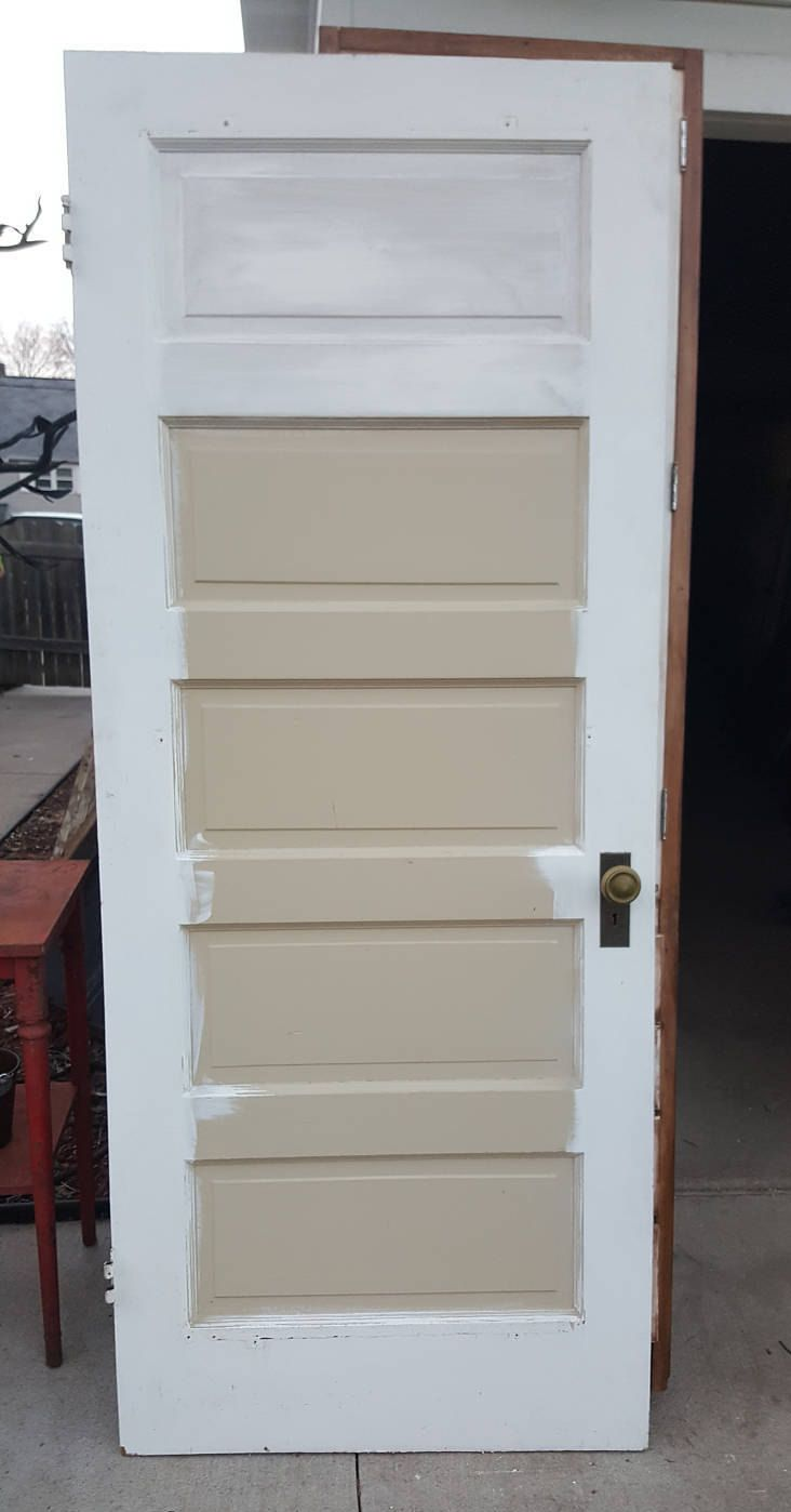 Antique Vintage 5 Panel Interior Door Approx 28 X 78 Hardware Stained Closet Antique Doors For Sale Doors Interior Antique Doors