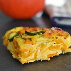 #7blogger#7rezepte: Kürbis-Frittata mit Kartoffeln und Zucchini