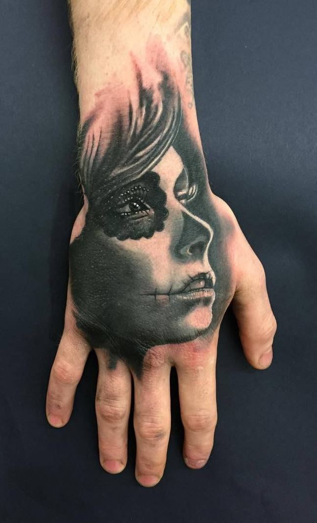 Day Of The Dead Hand Tattoo: Day Of The Dead Hand Tattoo By Edoardo. Limited