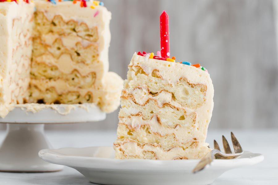 [homemade] White chocolate skittles birthday cake for my