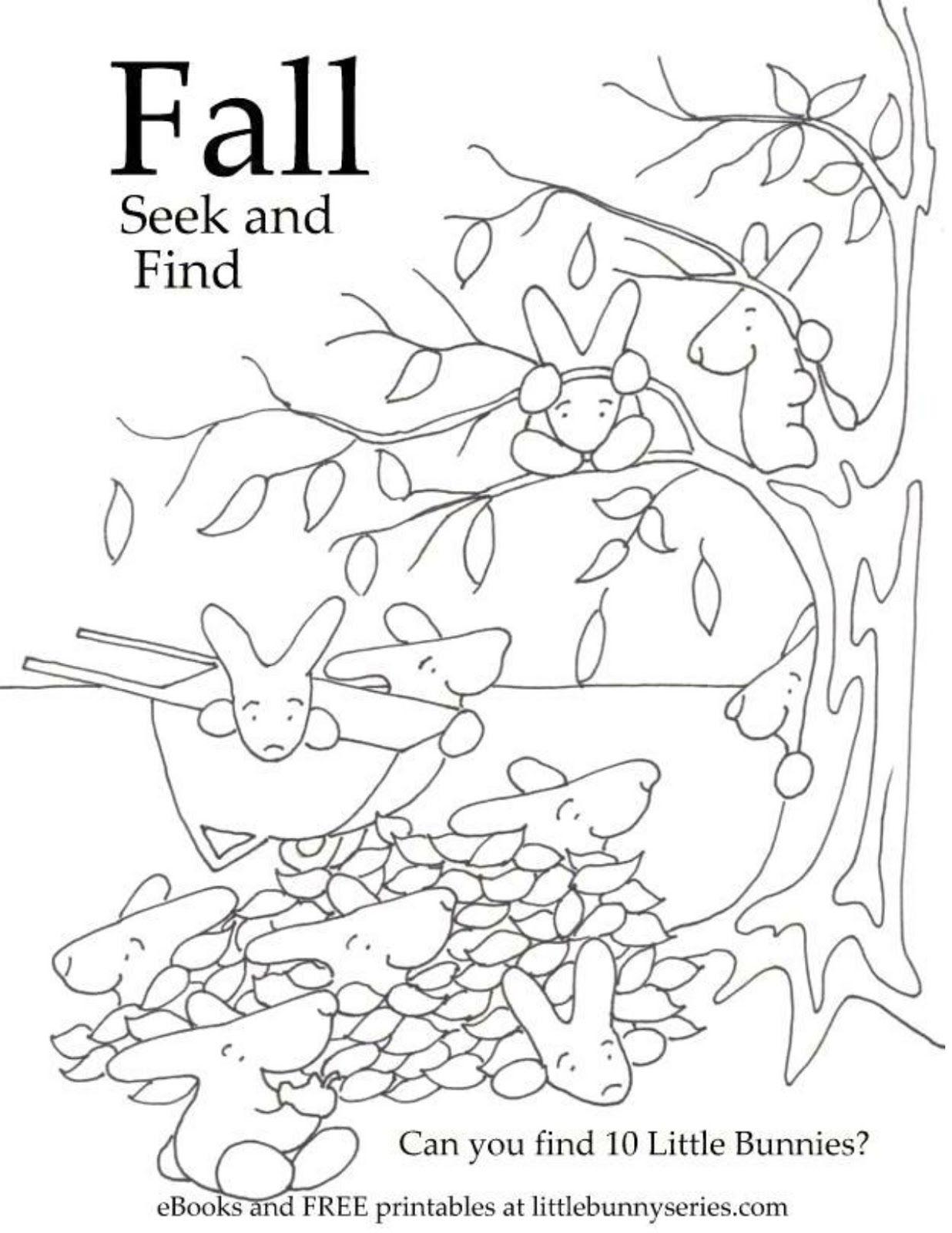 Fall Seek And Find Free preschool, Preschool first day