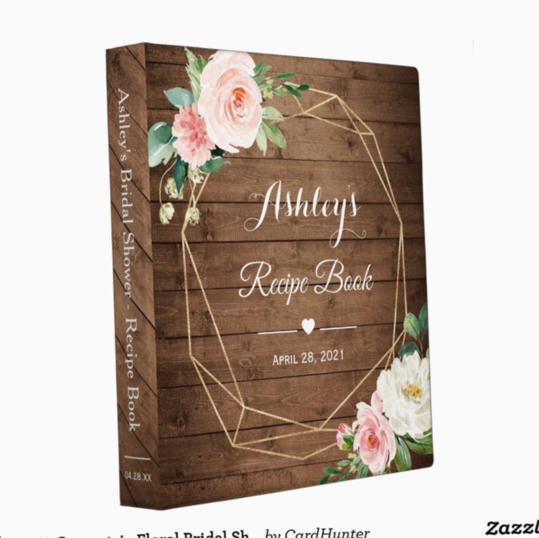 9 Diy Baby Book Binder In 2020 Bridal Shower Recipe Book Bridal Shower Decorations Rustic Bridal Shower Food