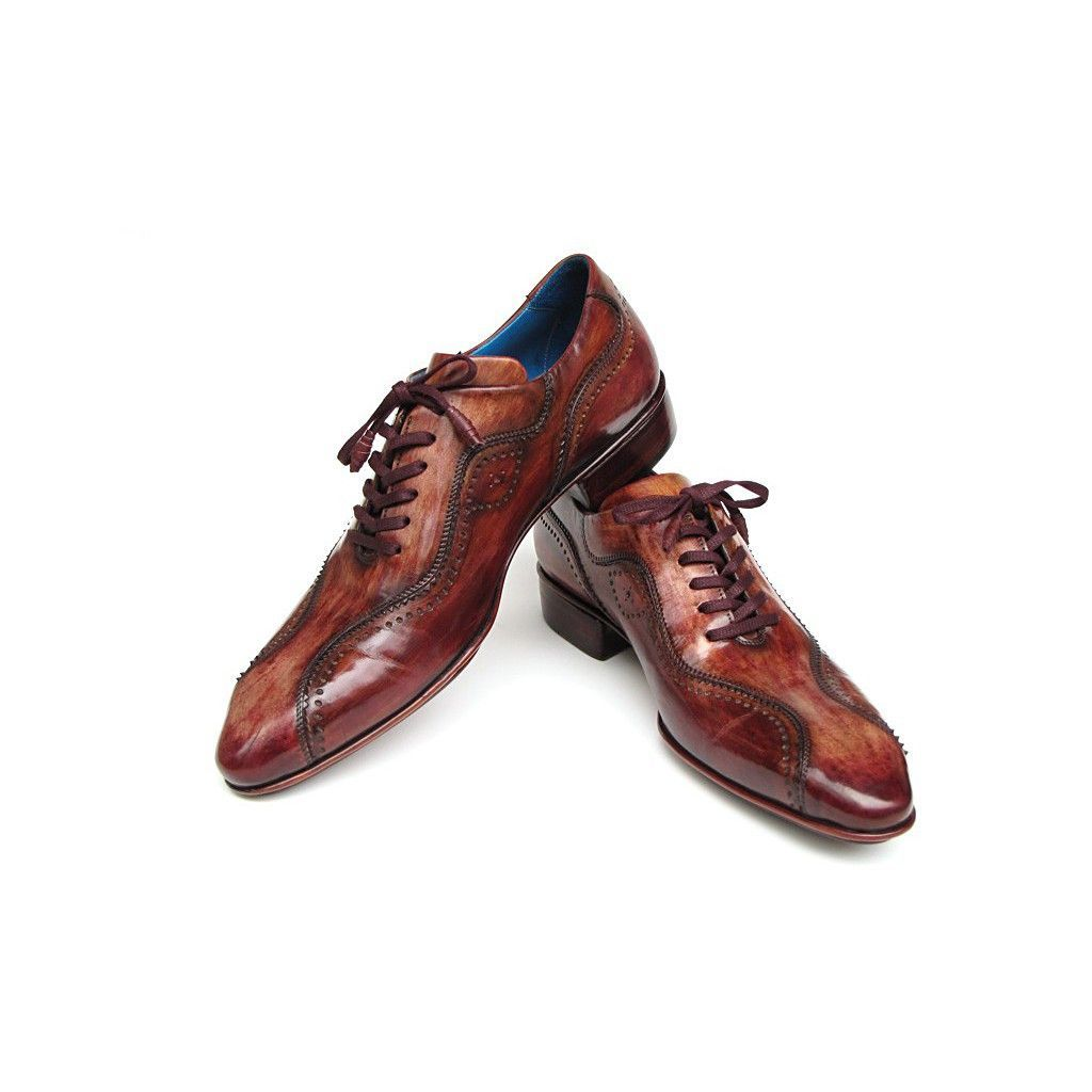c8c692b6363a3 Paul Parkman Handmade Lace-Up Casual Shoes For Men Brown (ID#84654-BRW)