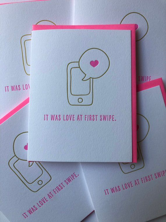 Funny Online Dating Card, Tinder Valentines Day Card