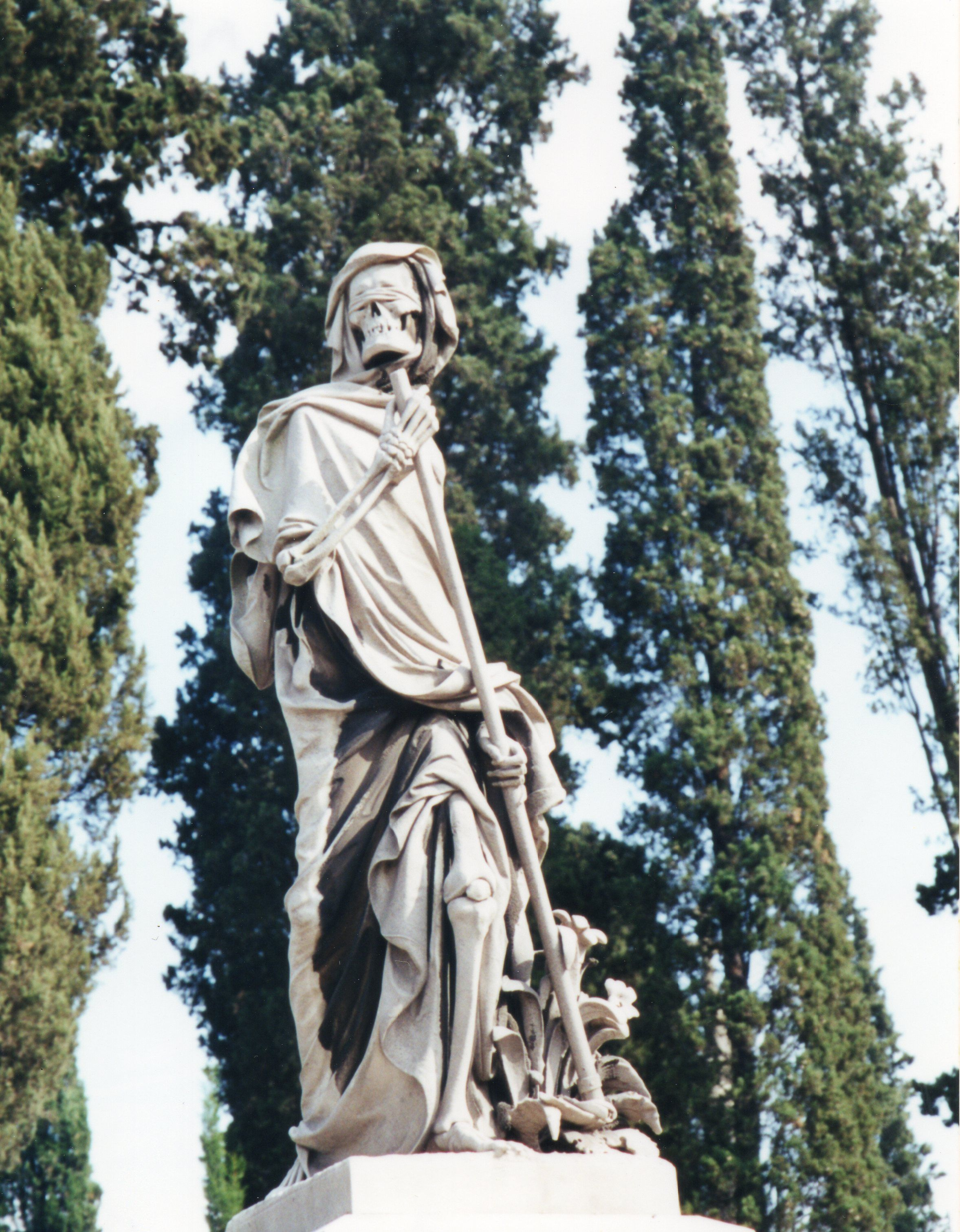 Grim Reaper in the English Cemetery, Florence ...