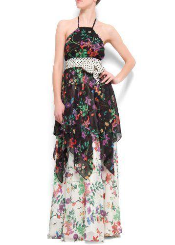 Mango Women's Flower Maxi-dress