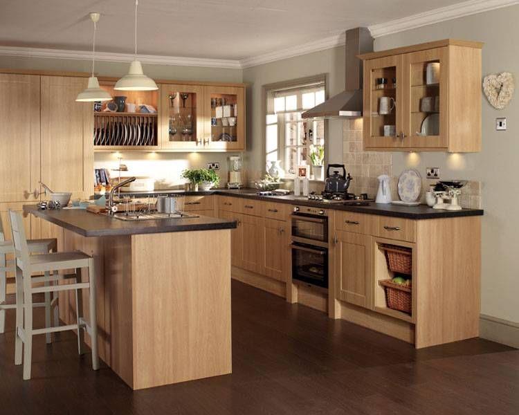 Pin by megan thomson xxx on kitchen pinterest kitchen design light oak cabinets with dark countertops workwithnaturefo