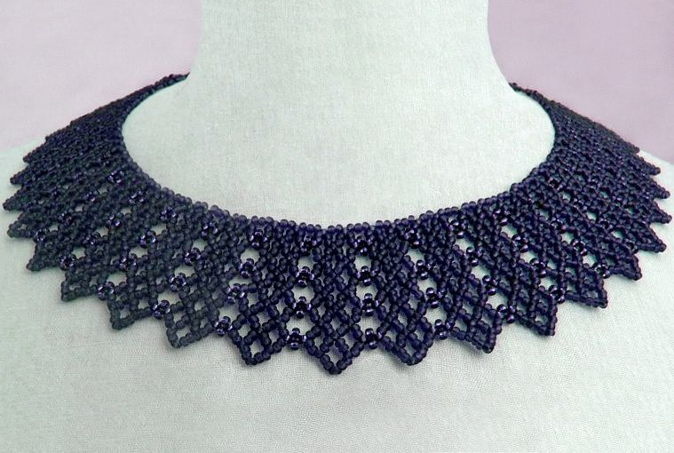 Free pattern for necklace Beatrice | Collares babero, Collares y ...