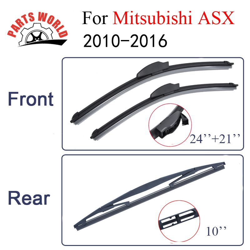 Partsword Front And Rear Wiper Blades For Mitsubishi Asx 2010 2016 Windshield Rubber Car Accessories Affiliate Car Wiper Car Accessories Windscreen Wipers