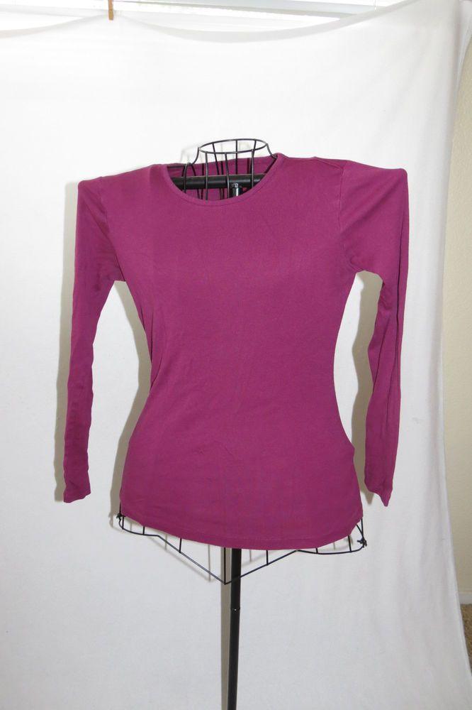d39afefa409 Womens Gap Super Soft Crew Neck Long Sleeved Dark Plum Purple Shirt Top  Medium M  GAP  KnitTop  Casual
