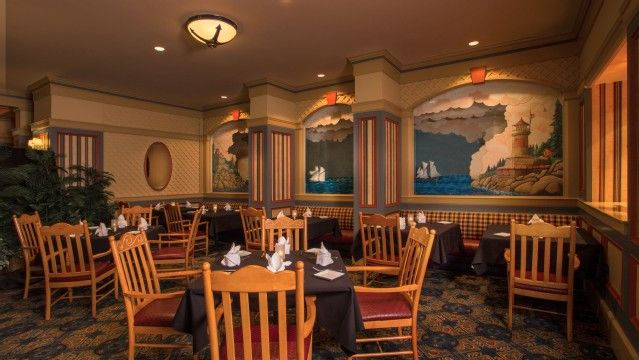 Casual Dining With New England Flair Family Friendly Fare And A Quaint Nautical Theme Make Captain S Grille At Disney Yacht Club Resort Por Port Of